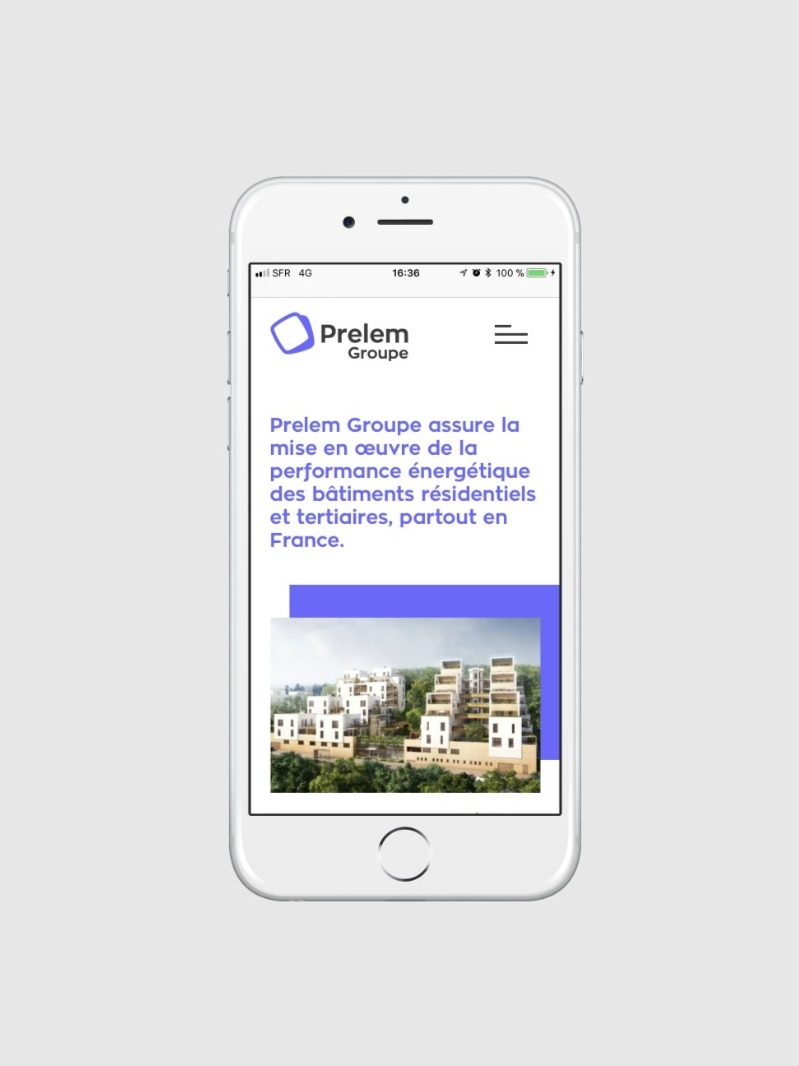site web mobile Prelem Groupe