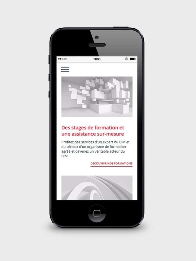 site web mobile datBIM